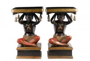 Pair of Josephine Mead Figural Blackamoor Stands