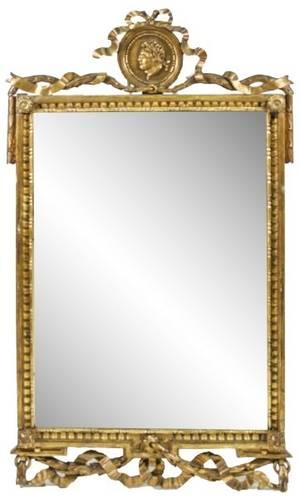 Italian 19th C Carved Giltwood Wall Mirror