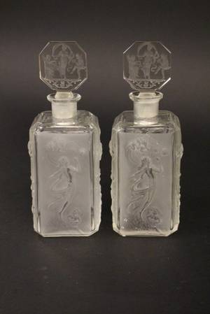 Pair of Hoffman Perfume Bottles