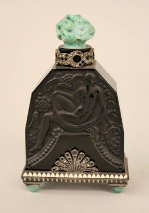 Heinric Hoffman Austrian Black Perfume Bottle