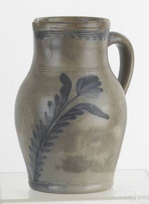 Pennsylvania stoneware pitcher late 19th c