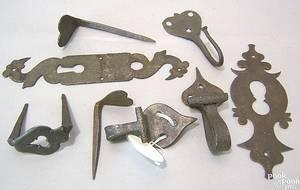 Pennsylvania wrought iron escutcheon 18th c