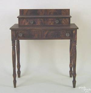 New England pine dressing table ca 1820