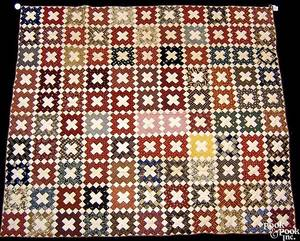 New York pieced friendship quilt late 19th c
