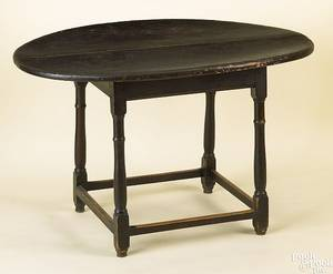 New England painted pine tavern table ca 1760