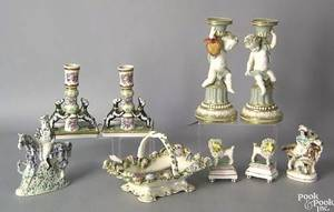 Staffordshire figurines and other  table articles