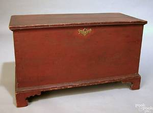 Small Pennsylvania painted poplar blanket chest ca 1820