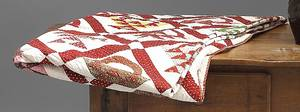 Pennsylvania or Maryland applique friendship quilt mid 19th c