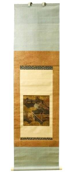 Japanese Edo Period Figural Scroll Painting