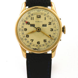 Tourneau Triple Calendar Gold Plated Tourneau