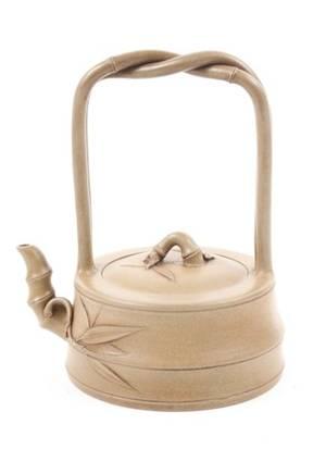 Bamboo Motif Yixing Zisha Teapot Chinese