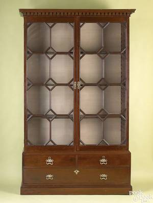 George III mahogany bookcase ca 1780