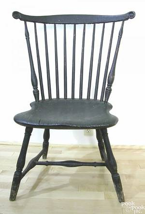 Pennsylvania fanback windsor side chair ca 1780