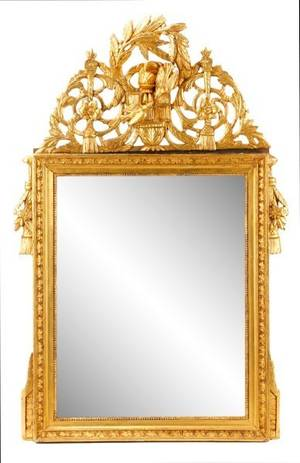 Louis XVI Style Giltwood Mirror 19th C