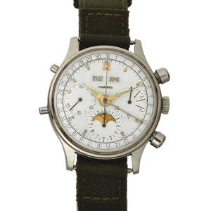 TOURNEAU CHRONOGRAPH TRIPLE DATE MOON PHASE STEEL Tourneau