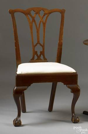 Delaware Valley Chippendale mahogany side chair ca 1775