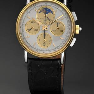BAUME  MERCIER CHRONOGRAPH MOON PHASE AND DATE STEEL  GOLD Baume  Mercier