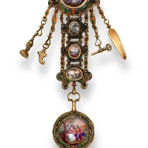 REBOUL  LOUIS XVI QUARTER REPEATING WATCH WITH ORIGINAL CHATELAINE Reboul  Paris