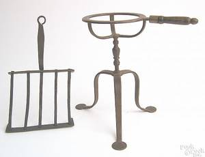 Diminutive American wrought iron trivet ca 1800
