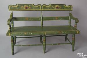 Pennsylvania painted miniature settee ca 1830