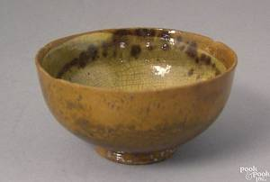 New England redware bowl 19th c