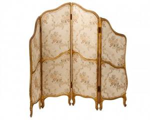Louis XV Style Four Panel Folding Screen