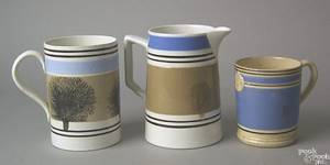 Three items to include seaweed decorated mocha mug