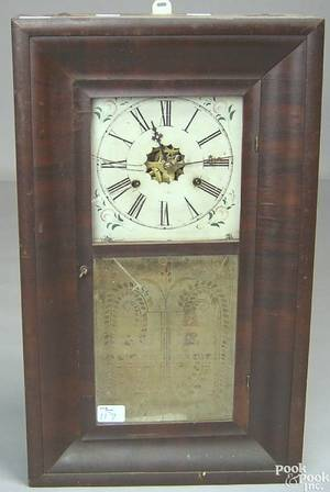 New Haven Clock Co Empire mahogany mantle clock