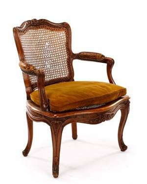 French Louis XV Period Beechwood Fauteuil