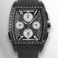 Villemont Aston T  GMT  Black Titanium  Black Diamonds Villemont