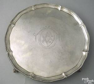 English silver salver ca 1770