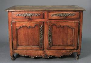 French Provincial Louis XV Oak Buffet