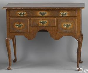 New England Queen Anne painted pine dressing table ca 1750