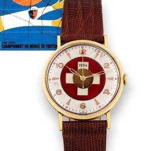 1954 FIFA World Cup Lacquer Swiss Flag  Football Dial Swiss