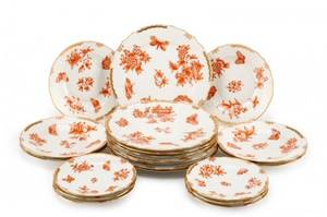 Herend China Fortuna Rust Pattern 20 Pieces