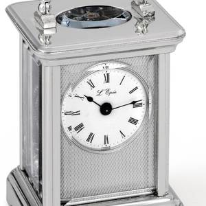 LEpee  Solid Silver Miniature Carriage Clock LEpee
