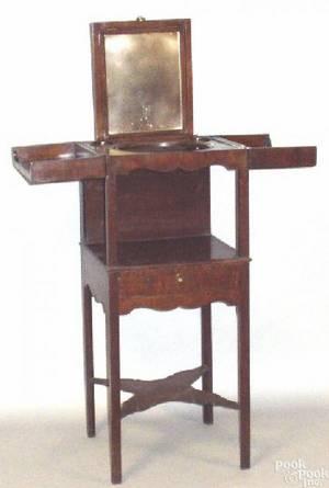 George III mahogany dressing stand ca 1790