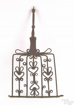Scottish or English wrought iron broiler or gridiron 18th c