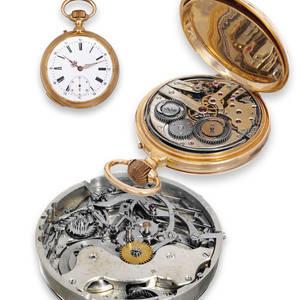 Pivoted Detent Chronometer Grande  Petite Sonnerie QuarterRepeating Clockwatch GirardPerregaux
