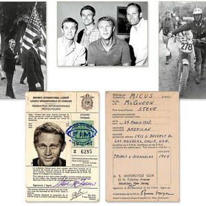 Steve McQueens Driving License Rare and Historically Important International Drivers License