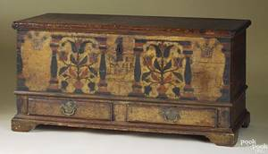 Berks County Pennsylvania painted pine dower chest dated 1803