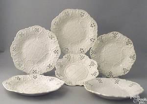 Six English salt glaze plates ca 1750
