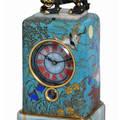 Dejardin  Orientalist Cloisonn Enamel QuarterStriking Carriage Clock J