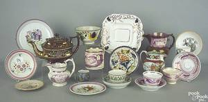 Gaudy Dutch toddy plate in the grape pattern