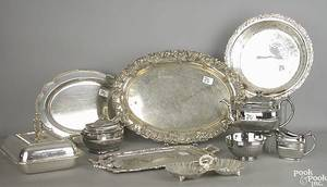 Group of silver plate and silver luster