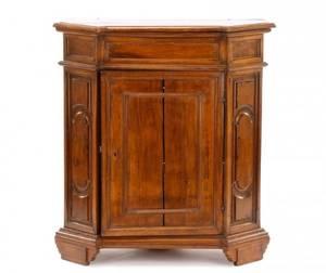 Italian Walnut LiftTop Cabinet or Console 19th C
