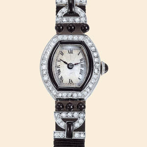 Art Deco Diamonds And Black Onyx Leon Hatot