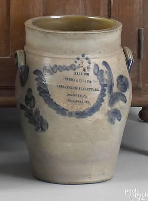 Remmey 3gallon stoneware crock 19th c