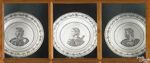 Ten creamware plates early 19th c