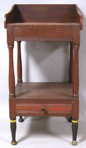 Pennsylvania painted pine wash stand ca 1810